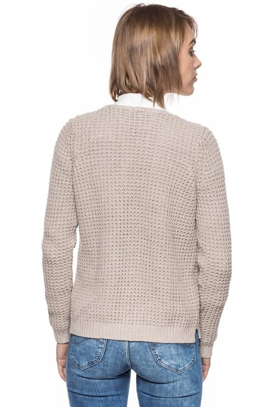 TOM TAILOR STRUCTURE CARDIGAN BEIGE