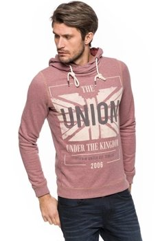TOM TAILOR PEACHED S. DYE HOODY WITH PRINT 2529447.00.12 COL. 4652