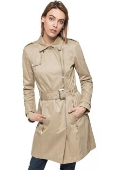 DAMSKI PŁASZCZ TOM TAILOR COTTON TRENCH
