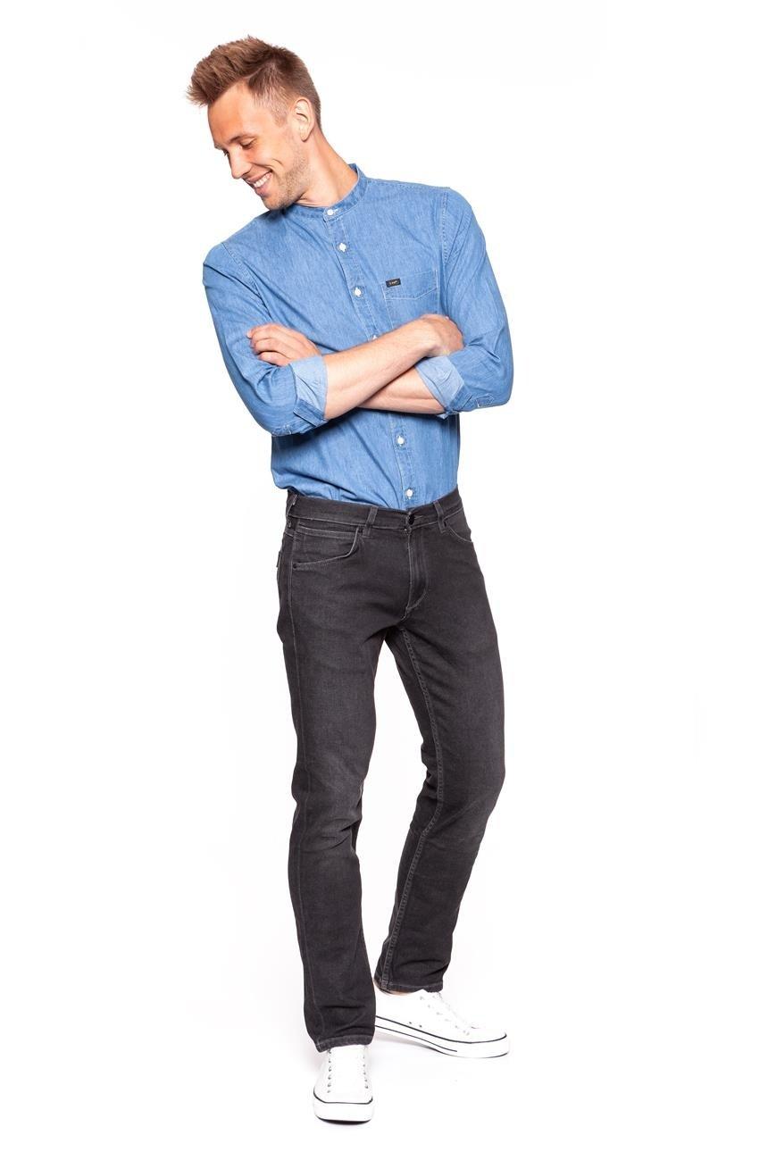 Stylizacja Youneedit# Koszula Jeansowa LEE Spodnie Wrangler GREENSBORO