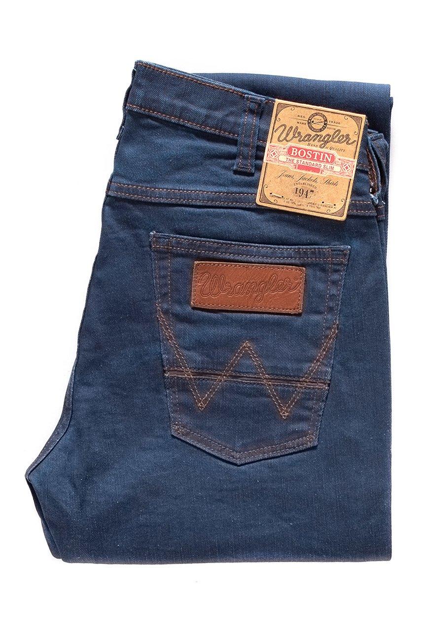 męskie spodnie wrangler bostin blue lake w32l32