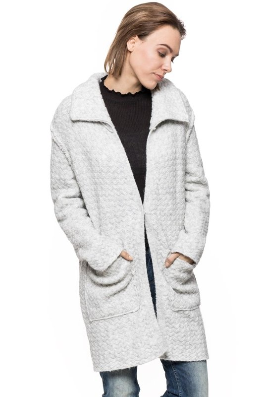 DAMSKI PŁASZCZ TOM TAILOR KNIT COAT