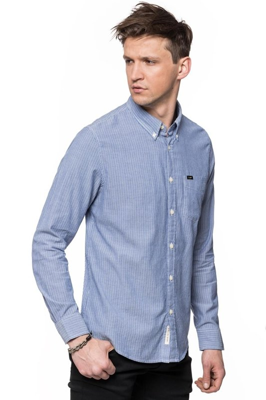 LEE BUTTON DOWN NIGHT BLUE L880ZMDY