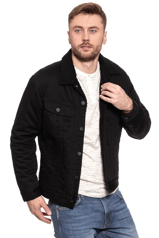 LEE SHERPA JACKET BLACK RINSE L87AMQ47