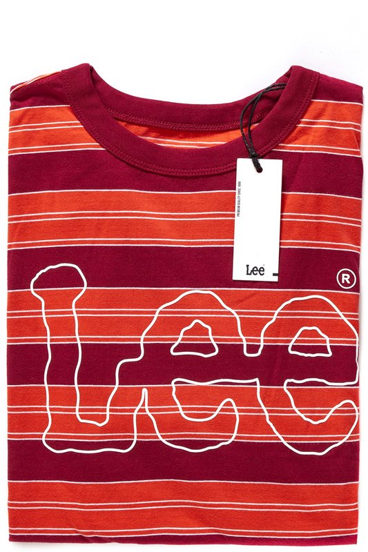 LEE STRIPE TEE FADED RED L66HWR