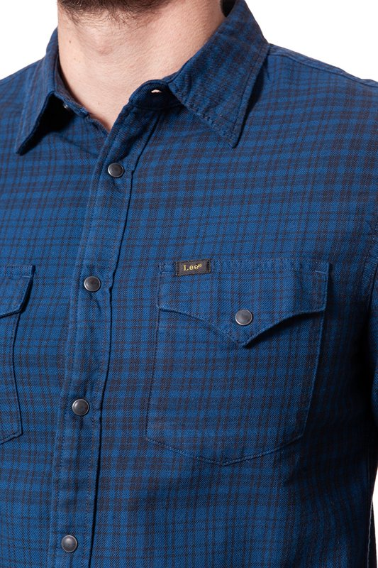 LEE WESTERN SHIRT WASHED BLUE L644DDLR