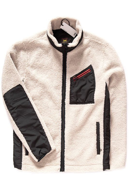 LEE ZIP POCKET JACKET OFF WHITE L86EVFMK