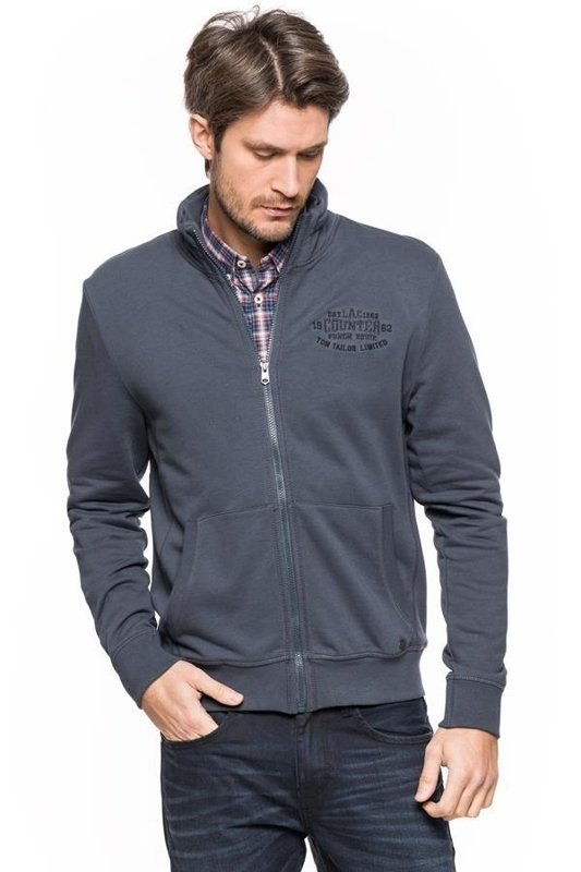 TOM TAILOR 2 IN 1 COLLAR SWEATJACKET BLUE GREY 2529870.01.10 COL. 6889