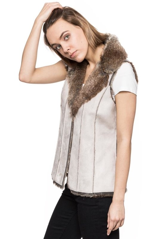 TOM TAILOR COSY FAKE FUR VEST
