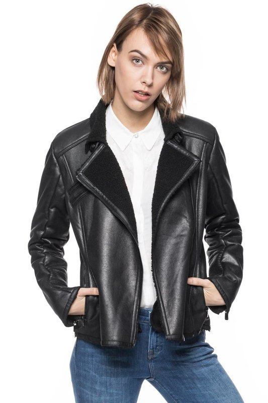 TOM TAILOR FAKE SHEARLING BIKER JACKET 3721963.00.75