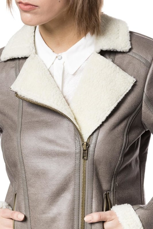 TOM TAILOR FAKE SHEARLING JACKET 3721957.00.70