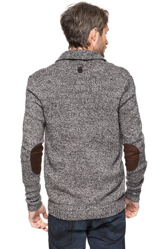 TOM TAILOR FANCY MOULINE ZIP JACKET TARMAC GREY 3020210.25.10 COL. 2983