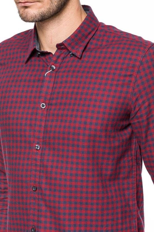 TOM TAILOR FLANNEL CHECK SHIRT FITTED 20307222510 COL.4559