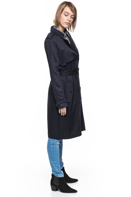 TOM TAILOR FLUENT LONG TRENCH COAT