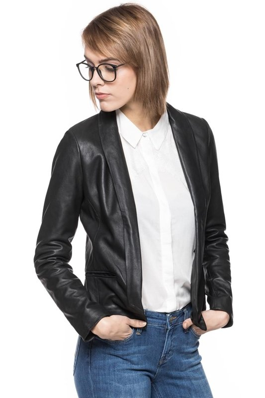 TOM TAILOR REAL LEATHER BLAZER