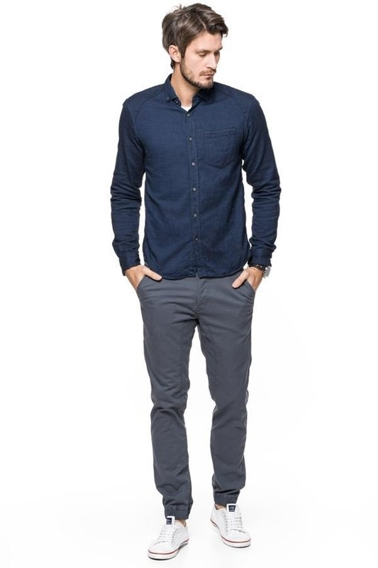 TOM TAILOR SOLID STRETCH TWILL JOGG CHINO NAVY 6403965.00.12 COL. 6889