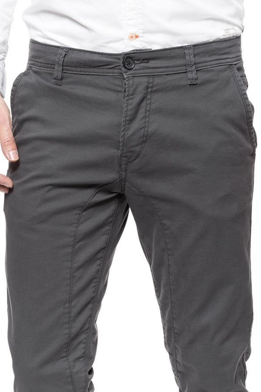 TOM TAILOR SOLID STRETCH TWILL JOGG CHINO NICKEL GREY