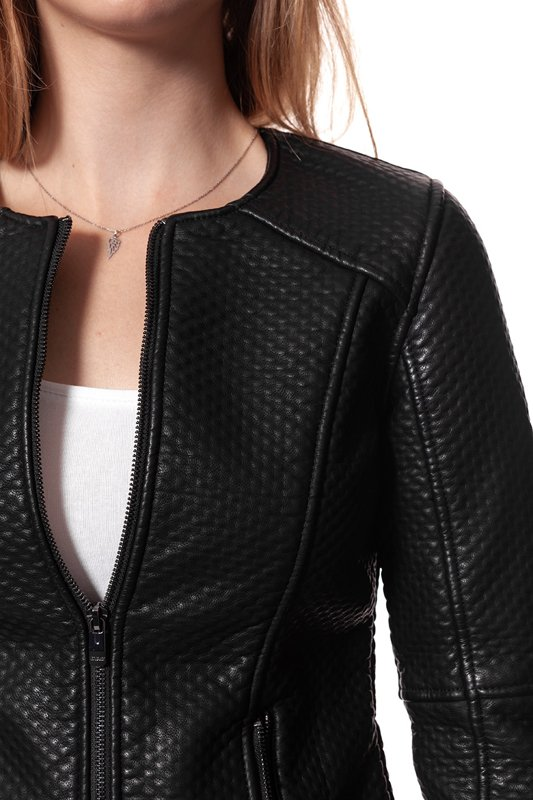 TOM TAILOR STRUCTURED JACKET LEATHER LOOK 3722014.00.75 COL. 2999