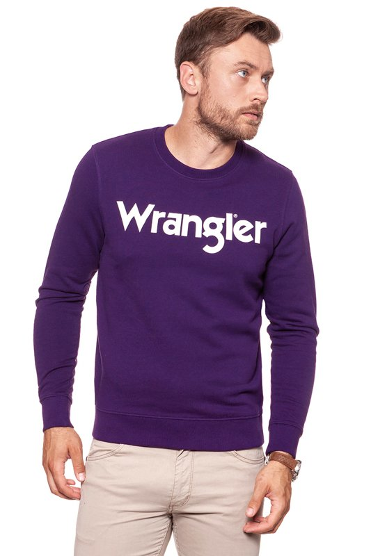 WRANGLER BLUZA MULTI LOGO SWEAT PURPLE PENNANT W6565ILWT