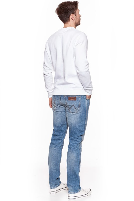 WRANGLER CREW SWEAT WHITE W6559IH12