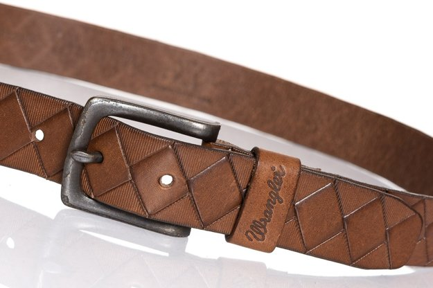 WRANGLER DIAMOND BELT BROWN W0A62U185