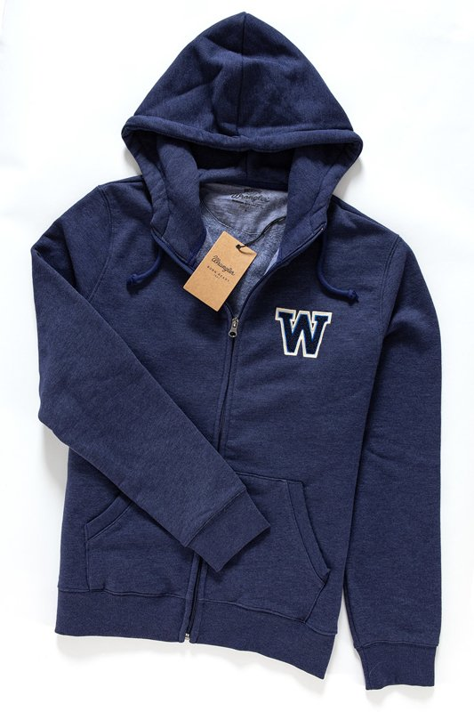 WRANGLER HOODIE ZIP SWEAT ESTATE BLUE W6499IU09