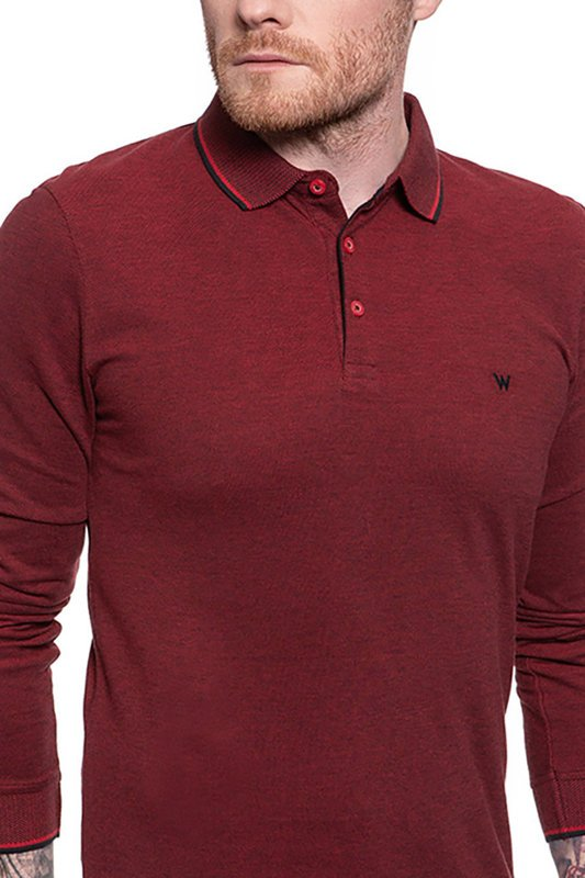 WRANGLER LS REFINED POLO RED W746KHX47