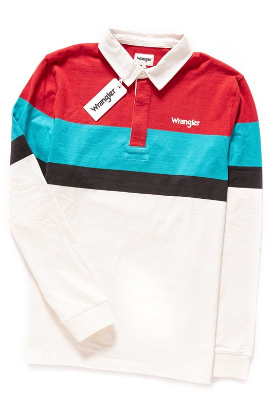 WRANGLER LS RUGBY POLO OFFWHITE W7C22GS02