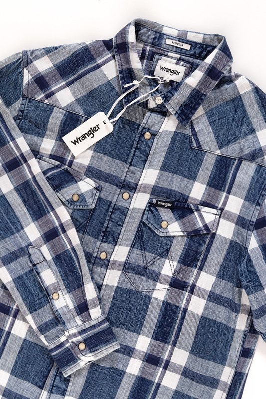 WRANGLER LS WESTERN SHIRT PATRIOT BLUE W5969SF5H
