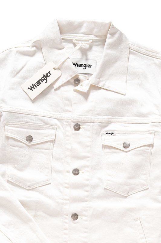 WRANGLER REGULAR JACKET WHITE PLEDGE W443GK14F