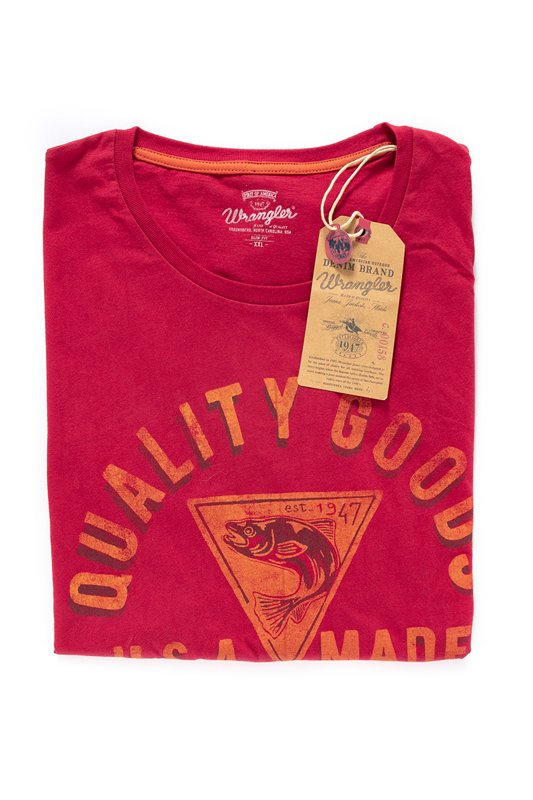 WRANGLER S/S GRAPHIC TEE JESTER RED W7930FK9S