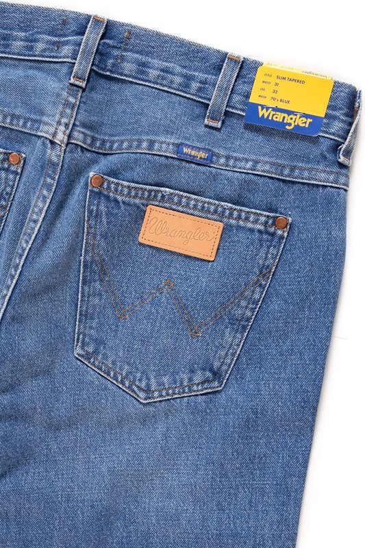 WRANGLER SLIM TAPERED B&Y FLAG BLUE W11SGX122