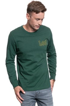 LEE OUTLINE LOGO LS DK BOTTLE GREEN L60GFEBB