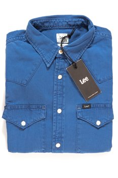 LEE WESTERN SHIRT BLUE ON BLUE L643AFOD