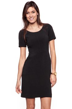 TOM TAILOR MODERN UNI DRESS BLACK