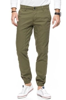 TOM TAILOR SOLID STRETCH TWILL JOGG CHINO OLIVE DRAP 6403965.00.12 COL. 7141