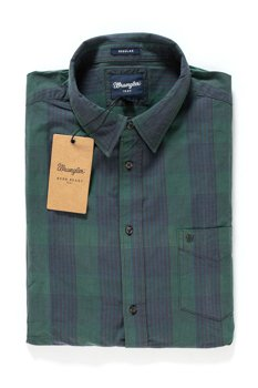 WRANGLER L/S 1PKT SHIRT EVERGREEN W5760NH6C